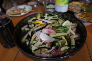 もとなり西瓜と夏野菜のサラダ